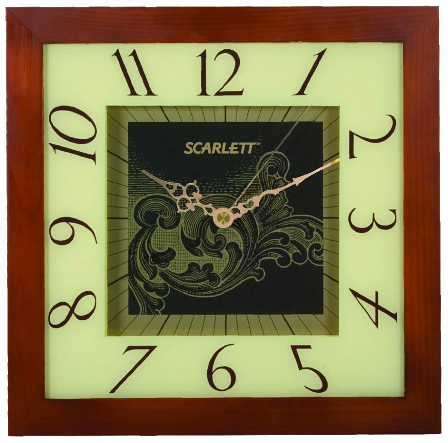 Настенные часы SCARLETT SC-33C, аналоговые,  бежевый