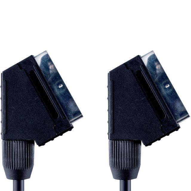 Кабель аудио-видео BANDRIDGE VVL7001,  SCART (m)  (Г-образный) -  SCART (m)  (Г-образный),  1м, черный