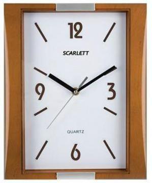 Настенные часы SCARLETT SC-55QS, аналоговые,  коричневый