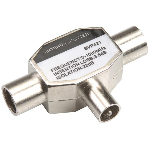Сплиттер антенный BANDRIDGE BVP421,  Coax (m)  -  2xCoax (f)