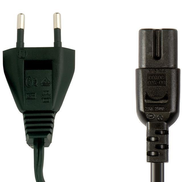 Адаптер питания BANDRIDGE BPL1702,  IEC320-C7 (f) -  евровилка,  1.8м