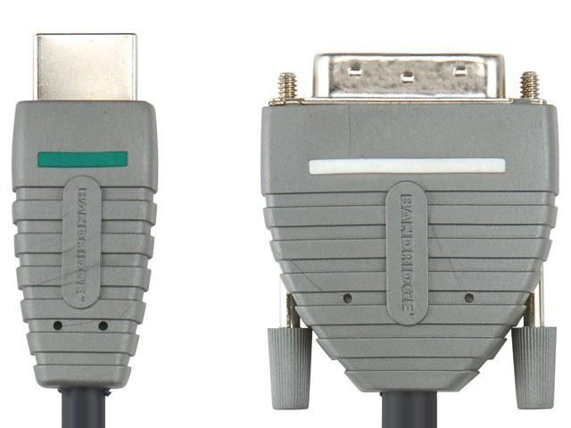 Кабель HDMI BANDRIDGE BVL1101,  HDMI19 (m) -  DVI-D(m),  1м