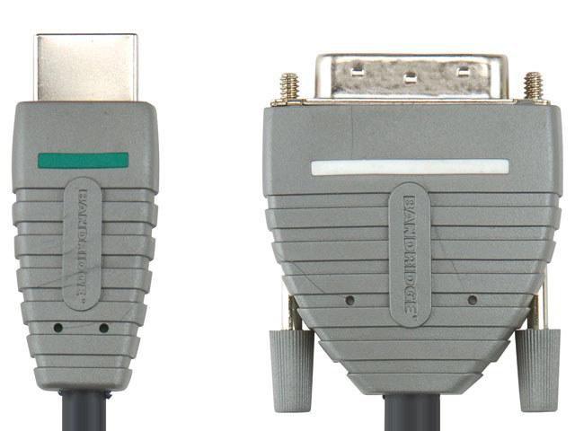 Кабель HDMI BANDRIDGE BVL1101,  HDMI (m) -  DVI-D (m),  1м