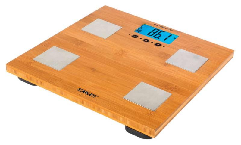 Весы SCARLETT SC-2216, до 180кг, цвет: бамбук