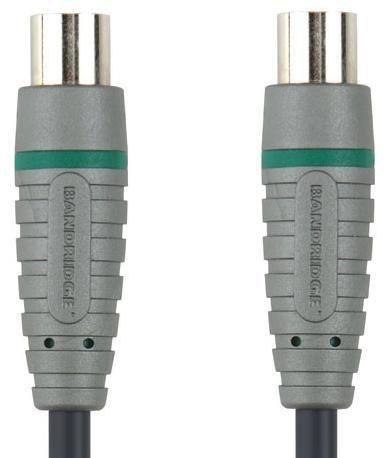 Кабель-удлинитель антенный BANDRIDGE BVL8701,  Coax (m)  -  Coax (f) ,  1м