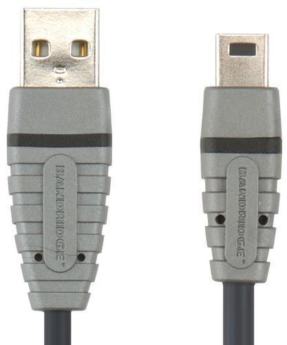 Кабель USB BANDRIDGE BCL4402,  USB A (m) -  mini USB B (m),  2м