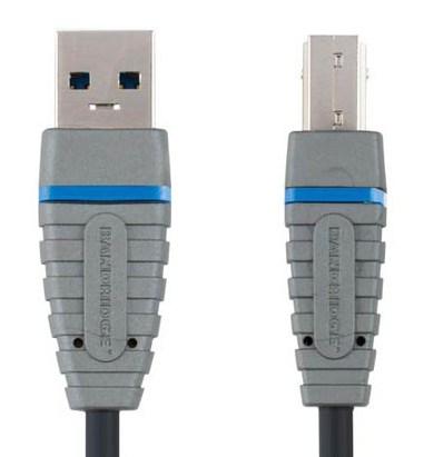 Кабель USB3.0 BANDRIDGE BCL5101,  USB A (m) -  USB B (m),  1м,  черный
