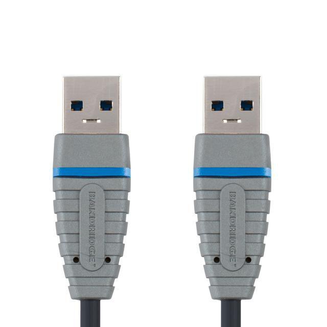 Кабель USB3.0 BANDRIDGE BCL5802,  USB A (m) -  USB A (m),  2м
