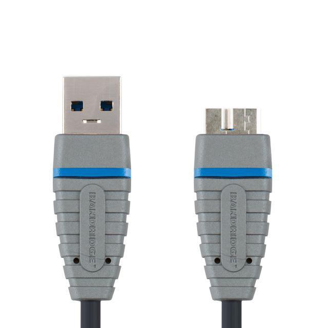 Кабель USB3.0 BANDRIDGE BCL5902,  USB A (m) -  micro USB B (m),  2м
