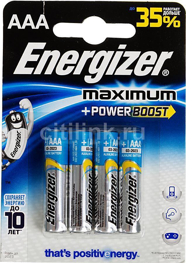 Батарея ENERGIZER Maximum LR03/E92 FSB4,  4 шт. AAA