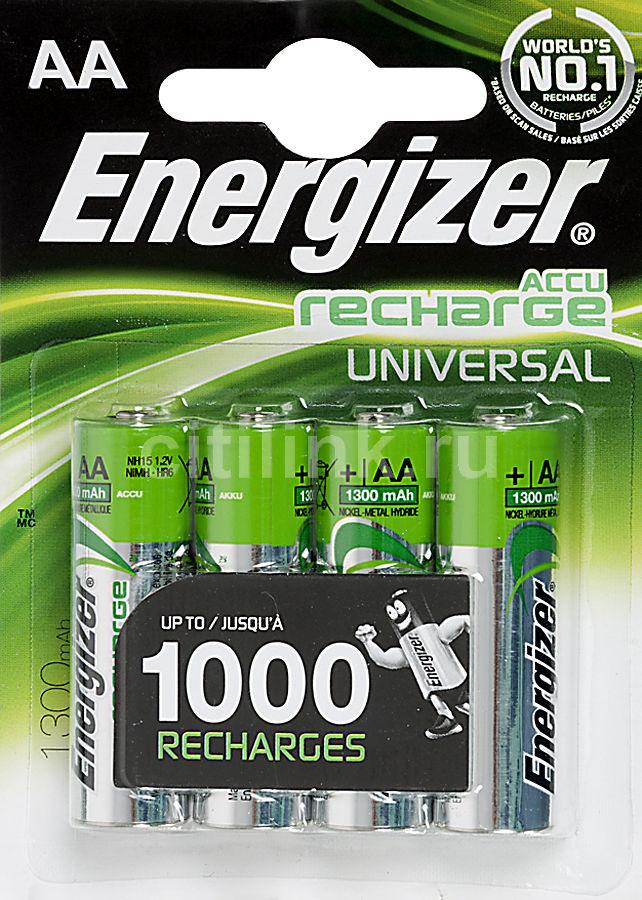 Аккумулятор ENERGIZER Universal FSB4,  4 шт. AA,  1300мAч