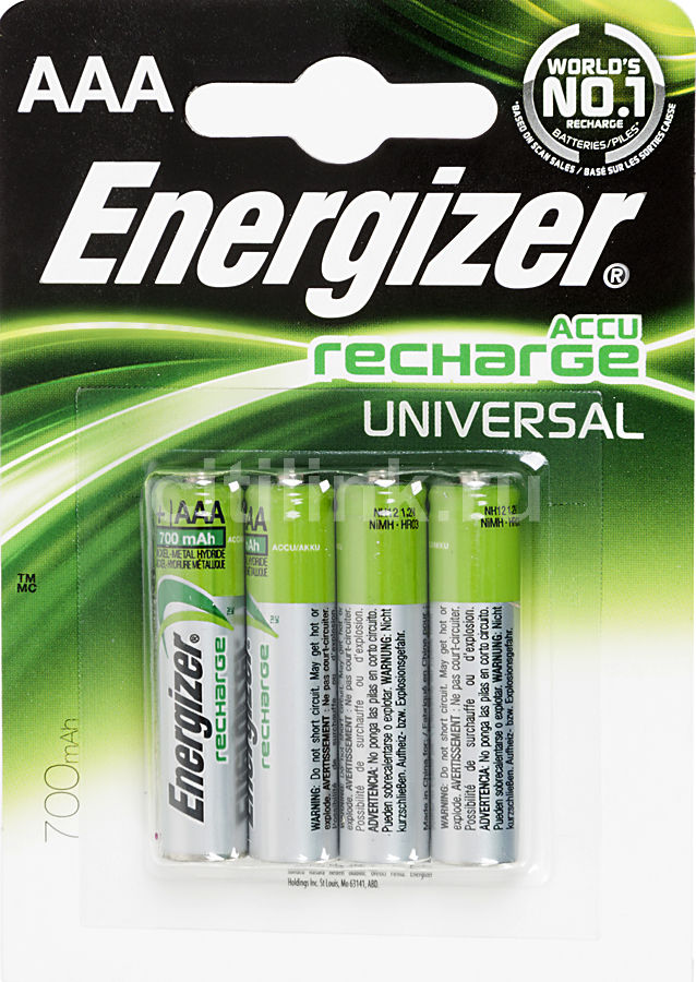 Аккумулятор ENERGIZER Universal FSB4,  4 шт. AAA,  700мAч
