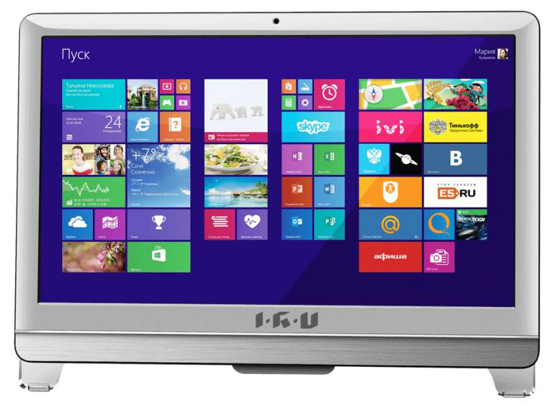 Моноблок IRU 309, Intel Core i3 3220, 4Гб, 1Тб, Intel HD Graphics, DVD-RW, Windows 7 Professional, белый [796554]