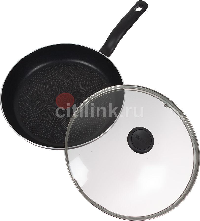 Сковорода TEFAL Tendance Black Current 04081430, 28см, с крышкой,  темно-фиолетовый [9100013792]