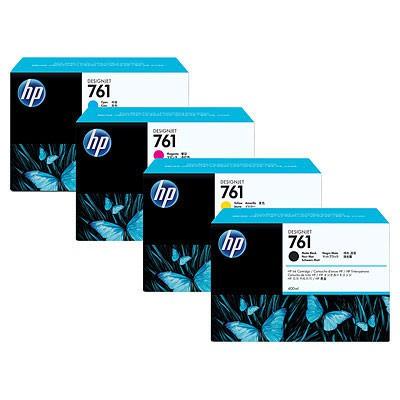 Тройная упаковка картриджей HP 761 желтый [cr270a]