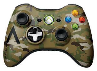 Геймпад Беспроводной MICROSOFT Xbox 360, камуфляж [43g-00052]