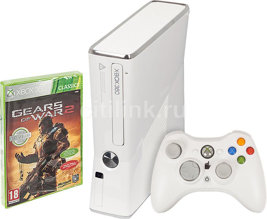 Игровая консоль MICROSOFT Xbox 360 RKB-00055, белый