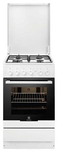 Газовая плита ELECTROLUX EKG951101W,  газовая духовка,  белый