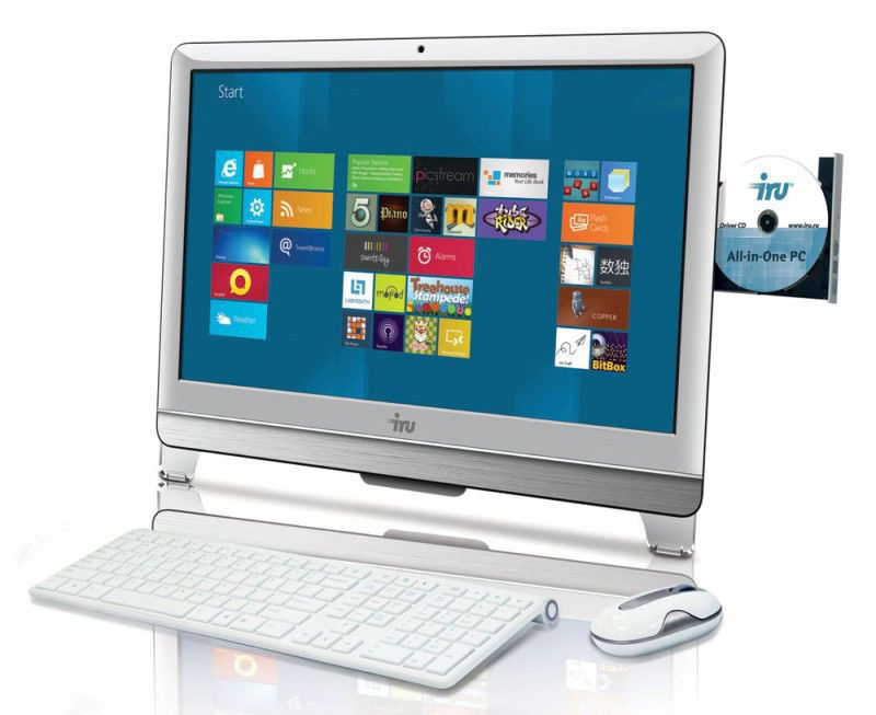 Моноблок IRU 308, Intel Pentium G860, 4Гб, 1000Гб, Intel HD Graphics, DVD-RW, Windows 7 Home Basic, белый