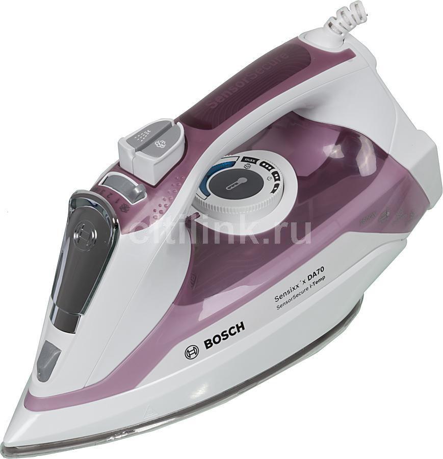 Утюг BOSCH TDA702821I,  2800Вт,  белый/ фиолетовый