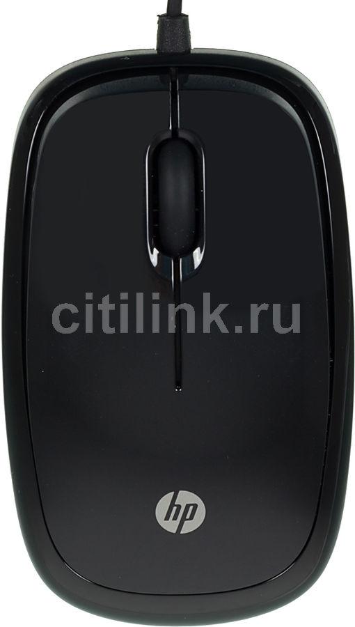 Мышь HP X1200, оптическая, проводная, USB, черный [h6e99aa]