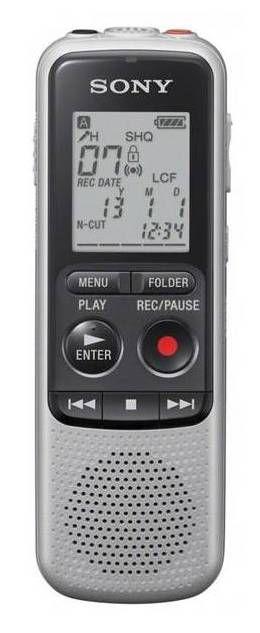 Диктофон SONY ICDBX132.CE7 2 Gb,  серебристый