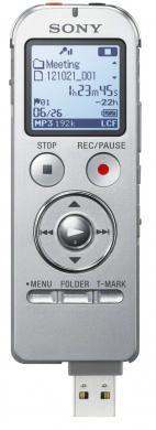 Диктофон SONY ICDUX533S.CE7 4 Gb,  серебристый
