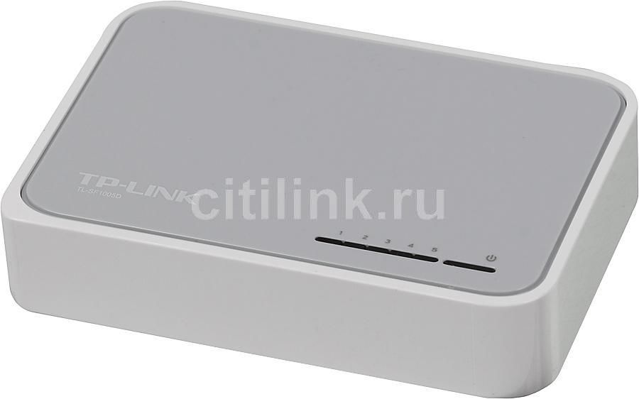Коммутатор TP-LINK TL-SF1005D коммутатор tp link tl sf1005d 5 port 10 100m mini desktop switch 5 10 100m rj45 ports plastic case