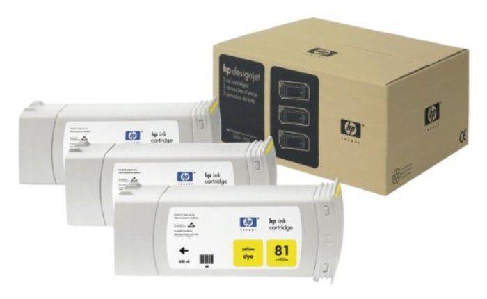 Тройная упаковка картриджей HP C5069A желтый