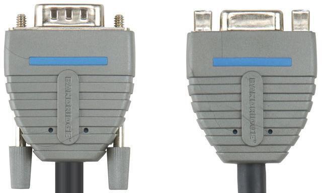 Кабель-удлинитель VGA BANDRIDGE BCL1002,  VGA HD15 (m) -  VGA HD15 (f),  2м,  блистер