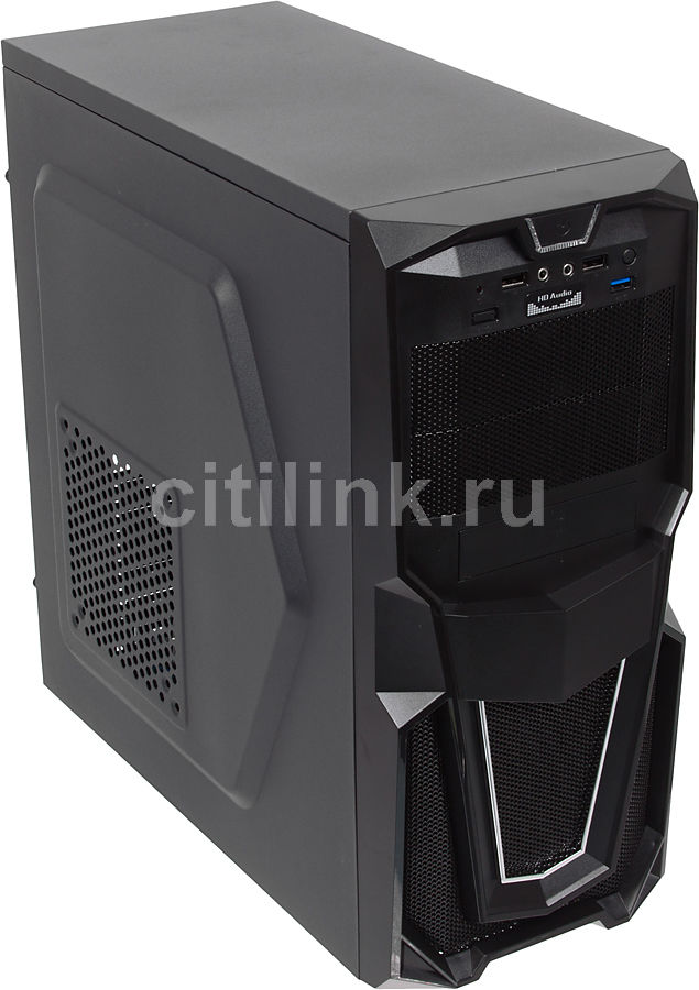 Корпус ATX ACCORD P-28B, Midi-Tower, без БП, черный