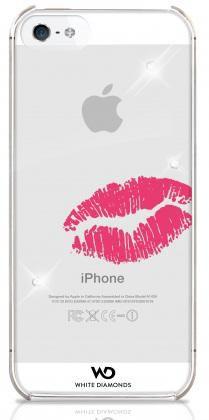 Чехол (клип-кейс) WHITE DIAMONDS Lipstick Kiss, для Apple iPhone 5/5S, прозрачный [wd-1210lip60]