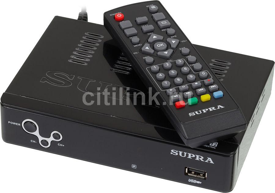Ресивер DVB-T2 SUPRA SDT-99,  черный