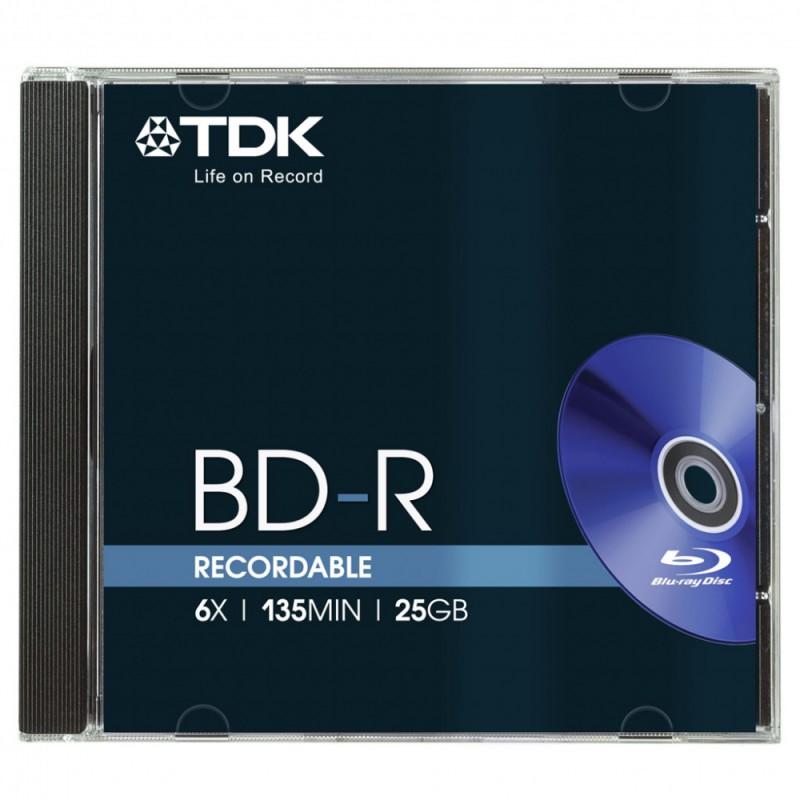 Оптический диск BD-R TDK 25Гб 6x, 5шт., T78057, jewel case