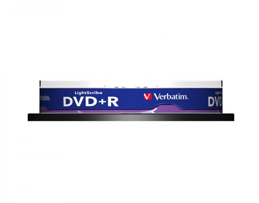 Оптический диск DVD+R VERBATIM 4.7Гб 16x, 10шт., 43576, cake box