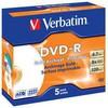 Оптический диск DVD-R VERBATIM 4.7Гб 8x, 5шт., 43638, jewel case, printable вид 1