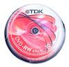 Оптический диск DVD-RW TDK 4.7Гб 4x, 10шт., T19525, cake box вид 1