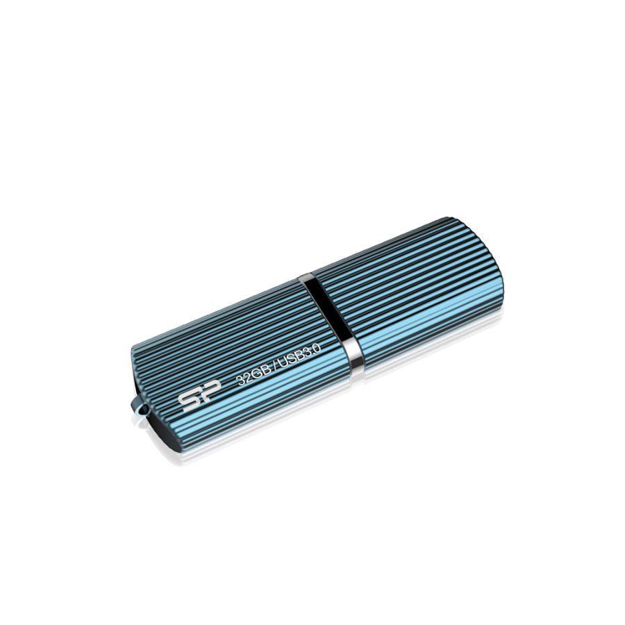 Флешка USB SILICON POWER Marvel M50 32Гб, USB3.0, голубой [sp032gbuf3m50v1b]