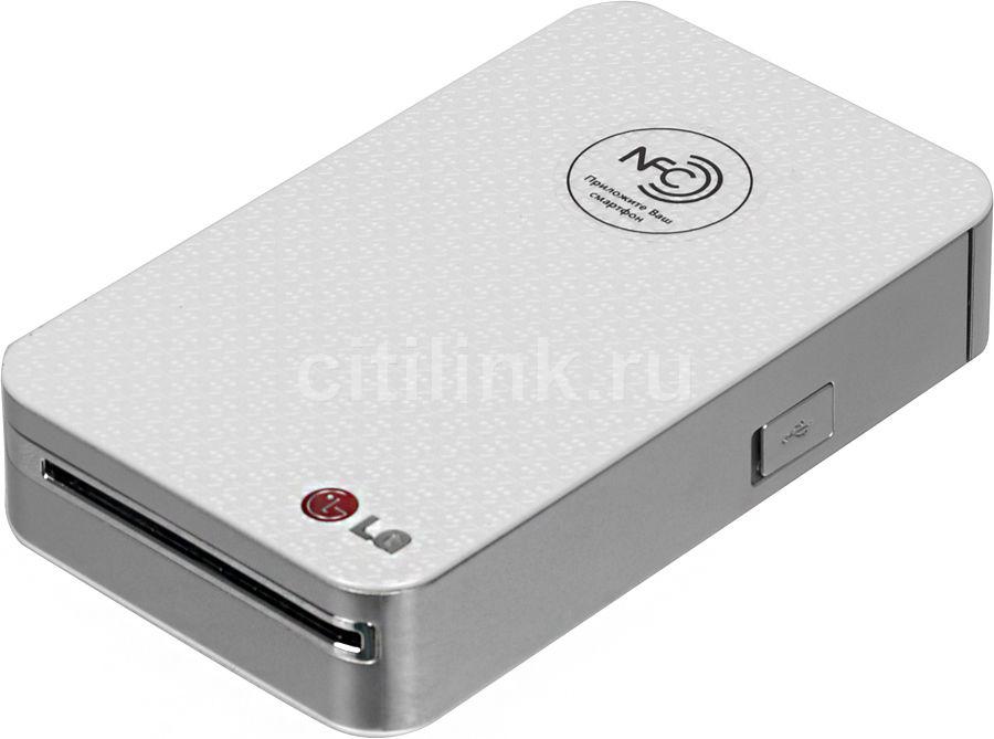 Фотопринтер для смартфона LG Pocket Photo PD233 белый совместим с Androis/IOS (PD233)