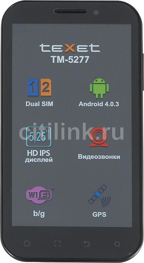 Смартфон TEXET TM-5277 (+ SIM-карта)  черный