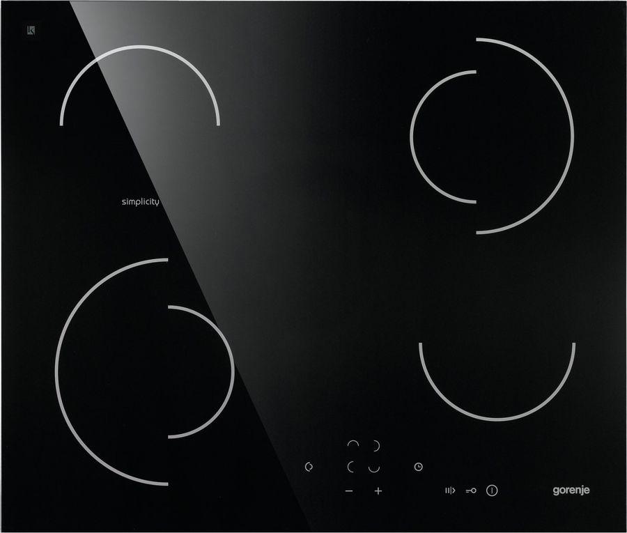Варочная панель GORENJE Simplicity ECT6SY2B,  Hi-Light,  независимая,  черный