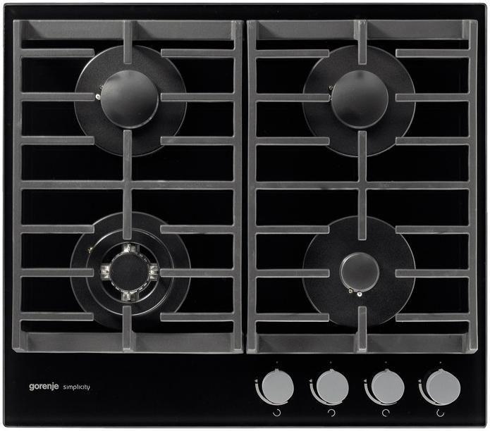 Варочная панель GORENJE Simplicity GT6SY2B,  независимая,  черный