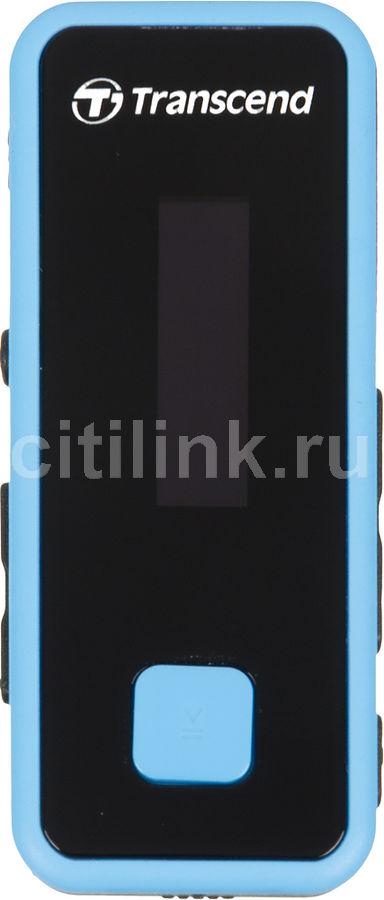 MP3 плеер TRANSCEND MP350 flash 8Гб черный/голубой [ts8gmp350b]