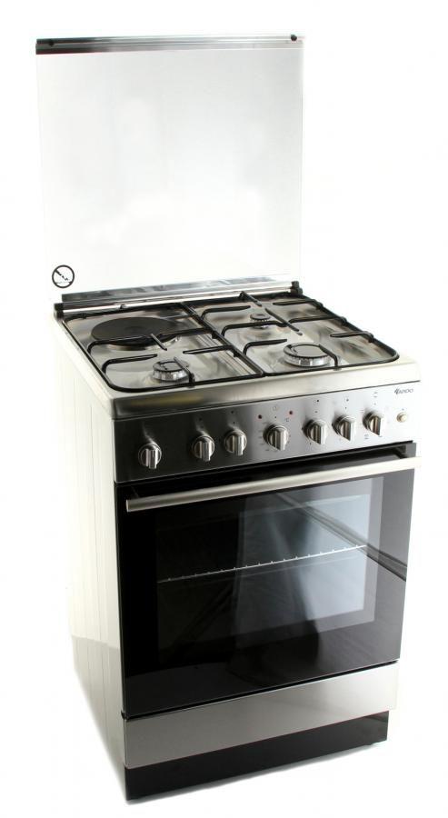 Газовая плита ARDO KT6C3G1EFSIX,  электрическая духовка,  серебристый