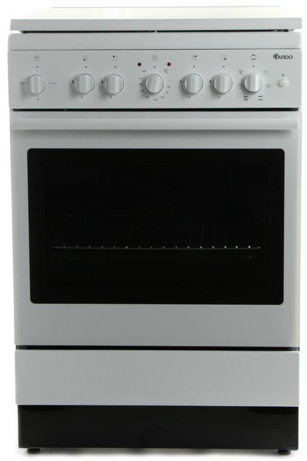 Газовая плита ARDO KT6C4G00FSWH,  электрическая духовка,  белый