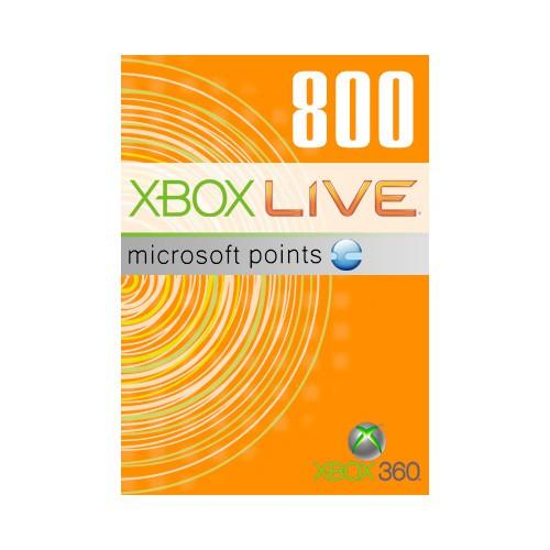 Карта оплаты MICROSOFT Xbox 360 Live Points 800, для  Xbox 360 [56p-00477]