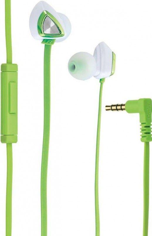 Наушники с микрофоном GENIUS HS-M250,  31710179101,  вкладыши, зеленый