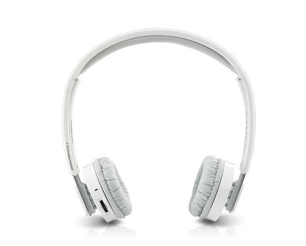 Наушники с микрофоном RAPOO H3080,  накладные, радио,  серый  / белый [12062]