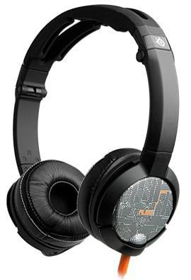 Наушники с микрофоном STEELSERIES FLUX Luxury 61283,  накладные, черный