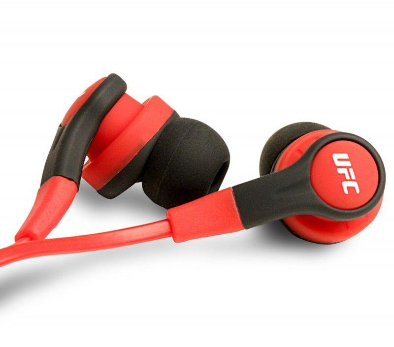 Наушники с микрофоном STEELSERIES UFC Edition,  вкладыши, красный  [61270]